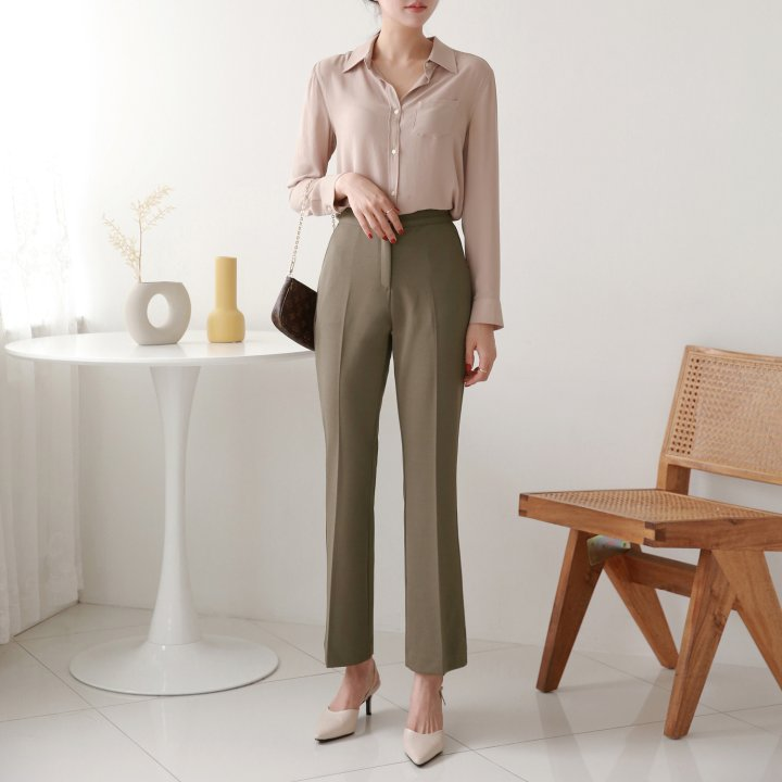 Slim It High-Waisted Trouser Pants